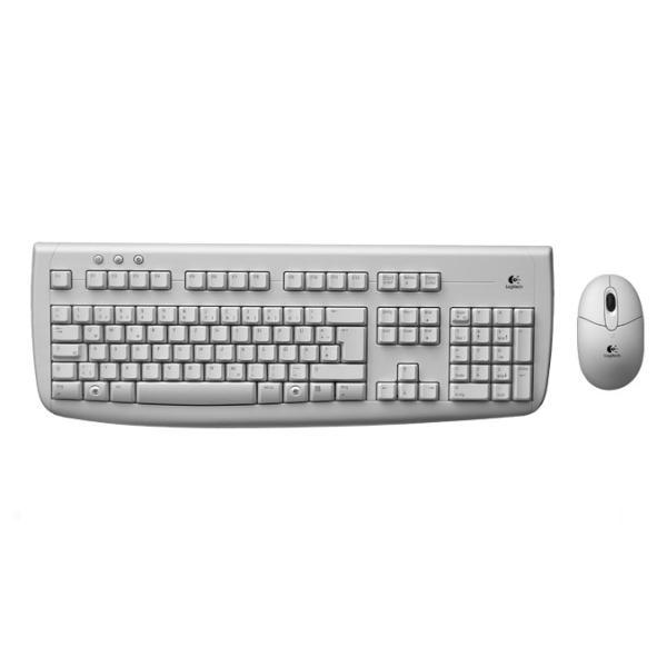 Logitech Deluxe 650 Cordless Desktop CZ OEM, white