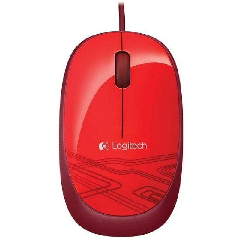 Logitech Notebook USB Mouse M105, red