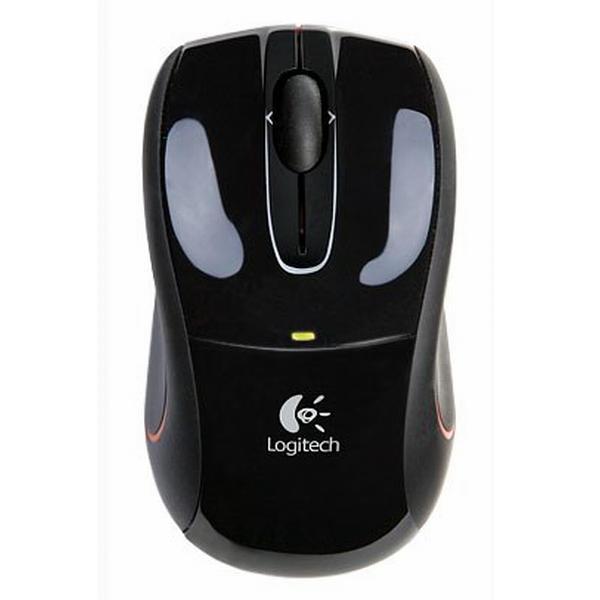 Logitech V320 Cordless Optical Mouse for Notebooks, black