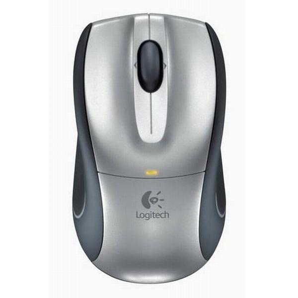 Logitech V320 Cordless Optical Mouse for Notebooks, light grey