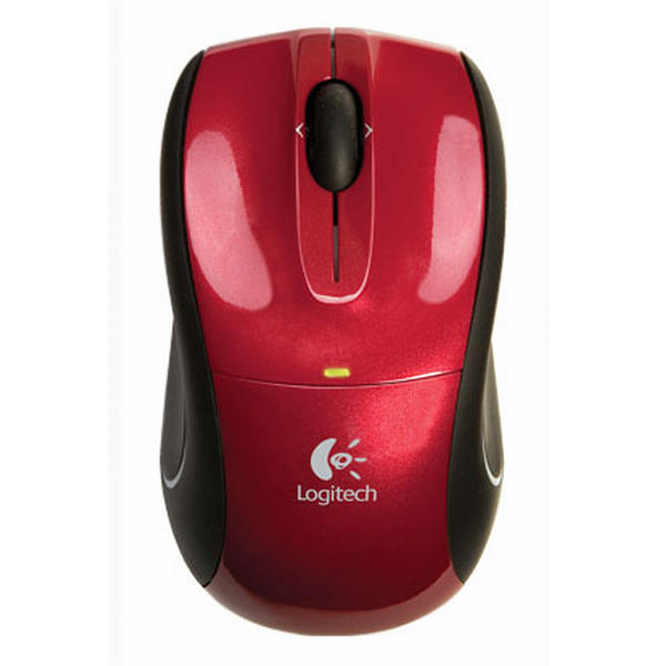 Logitech V320 Cordless Optical Mouse for Notebooks, red