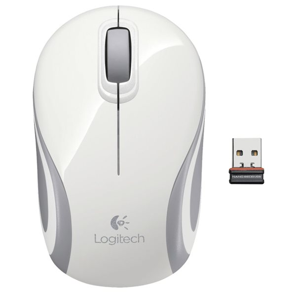 Logitech Wireless Mini Mouse M187, white