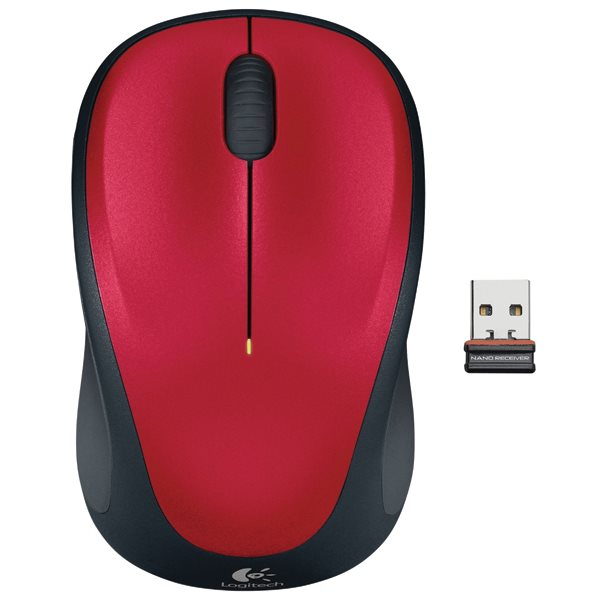 Logitech Wireless Mouse M235, red