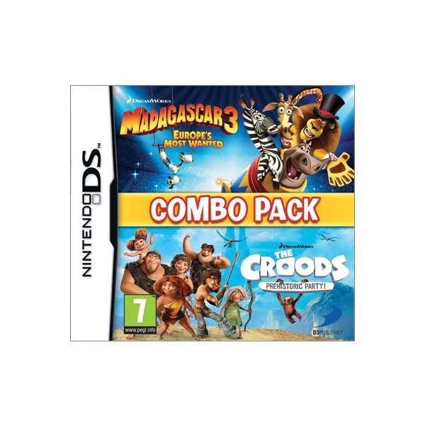 Madagascar 3: Europe�s Most Wanted + The Croods: Prehistoric Party (Combo Pack)