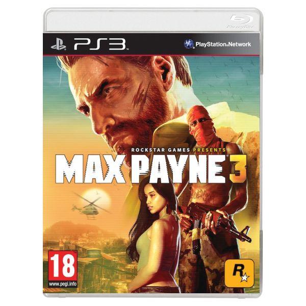 Max Payne 3-PS3 - BAZÁR (použitý tovar)