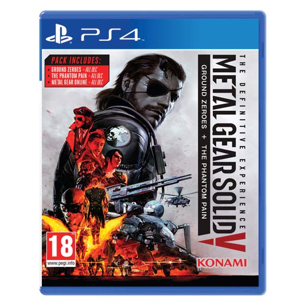 Metal Gear Solid 5: Ground Zeroes + Metal Gear Solid 5: The Phantom Pain (The Definitive Experience) [PS4] - BAZÁR (použ