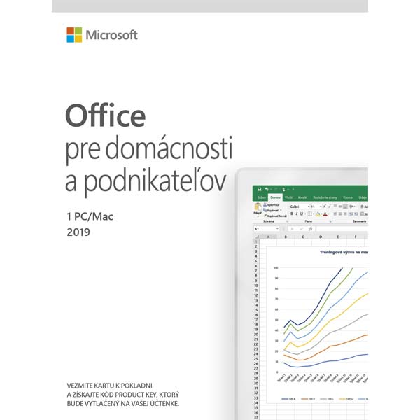Microsoft 2019 pre domácnosť a podnikateľov - 12 mesiacov
