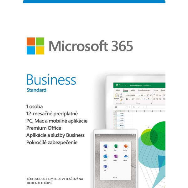 Microsoft 365 Business Standard - 12 mesiacov