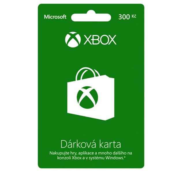 Microsoft LIVE Card 300 Kč