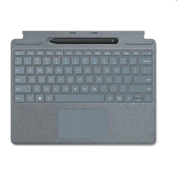 Microsoft Surface Pro X Keyboard + Pen bundle EN, platinový 25O-00067