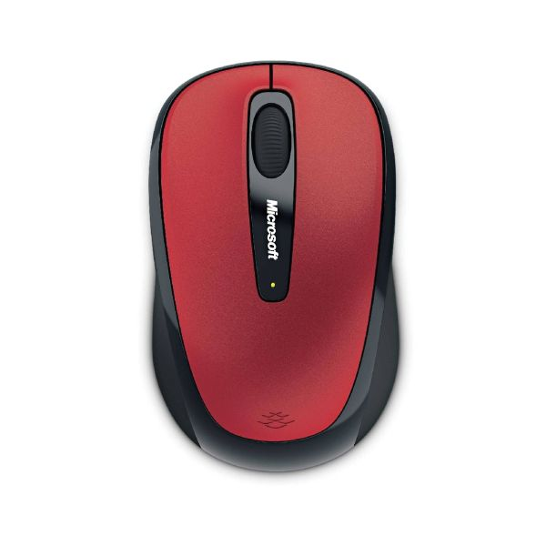 Microsoft Wireless Mobile Mouse 3500, Hibiscus red