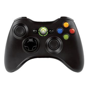 Microsoft Xbox 360 Wireless Controller, black  + Play & Charge Kit, black - Použitý tovar, zmluvná záruka 12 mesiacov