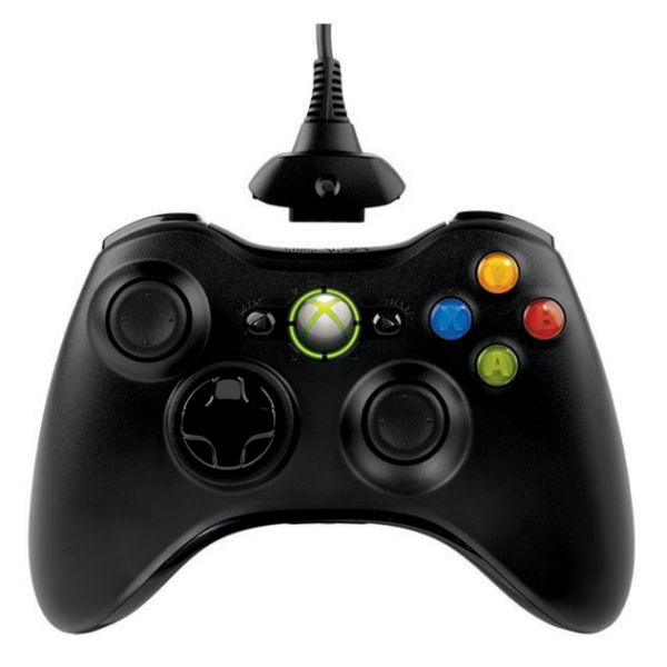 Microsoft Xbox 360 Wireless Controller, black + Play & Charge Kit, black