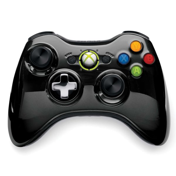 Microsoft Xbox 360 Wireless Controller, black (Special Edition Chrome Series)