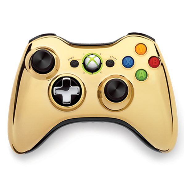 Microsoft Xbox 360 Wireless Controller, gold (Special Edition Chrome Series)