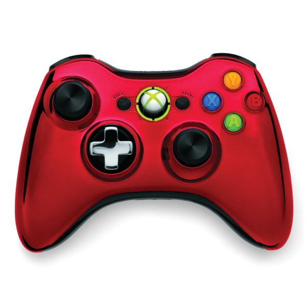 Microsoft Xbox 360 Wireless Controller, red (Special Edition Chrome Series)