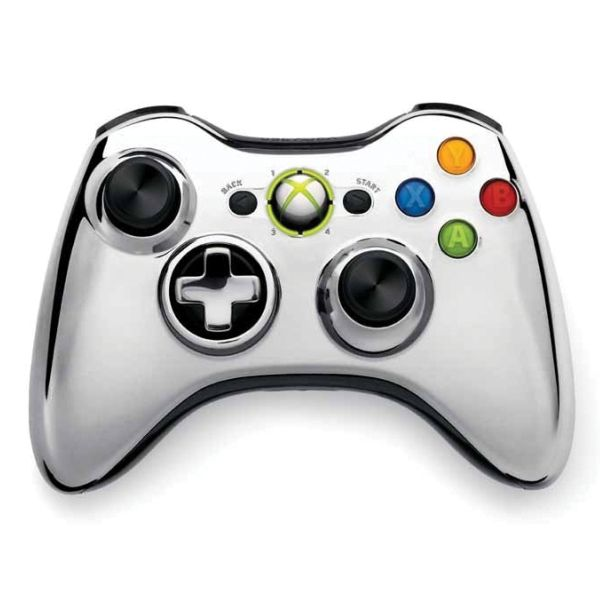 Microsoft Xbox 360 Wireless Controller, silver (Special Edition Chrome Series)