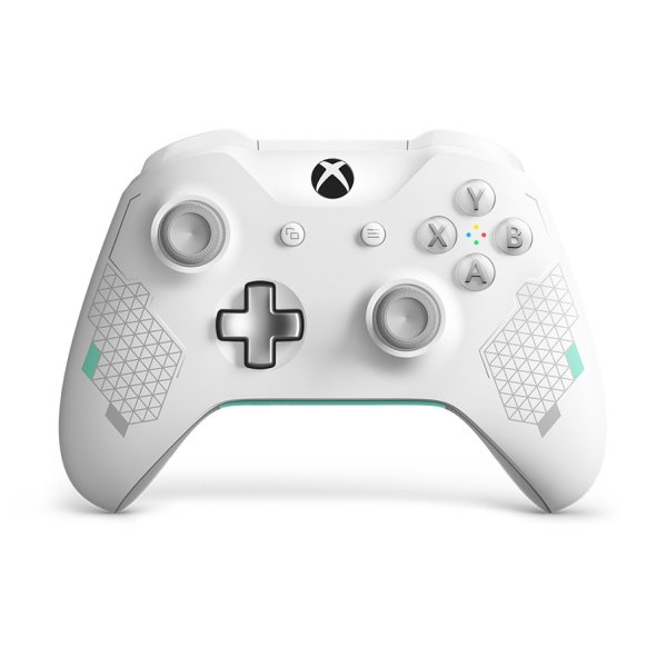 Microsoft Xbox One S Wireless Controller, Sport White (Special Edition)
