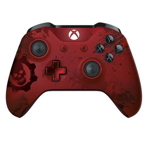 Microsoft Xbox One Wireless Controller, Gears of War 4 Crimson Omen Limited Edition