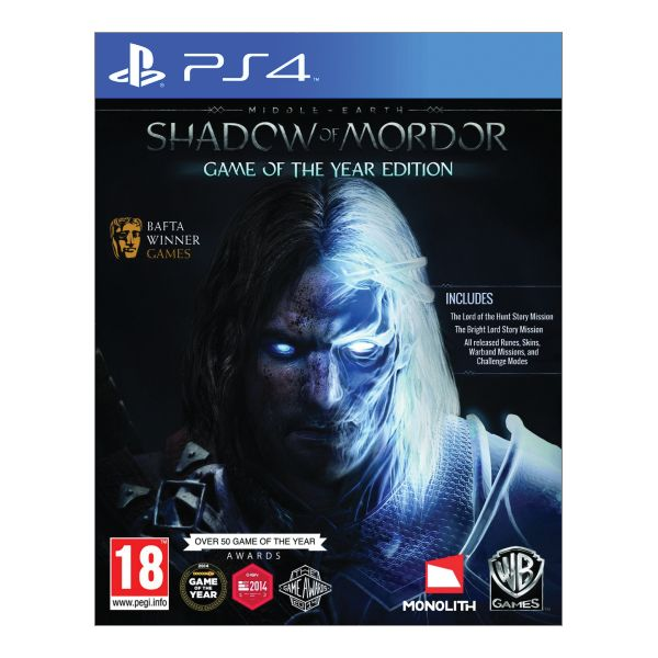 Middle-Earth: Shadow of Mordor (Game of the Year Edition) [PS4] - BAZÁR (použitý tovar)