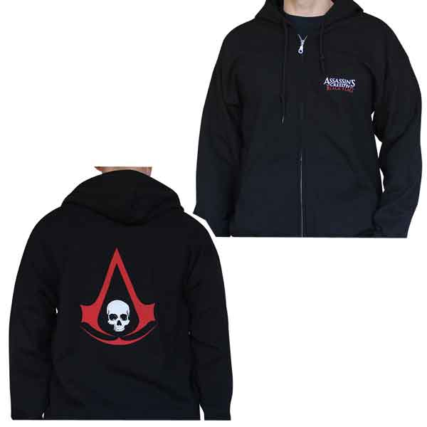 Mikina Assassin's Creed Black Flag Crest S