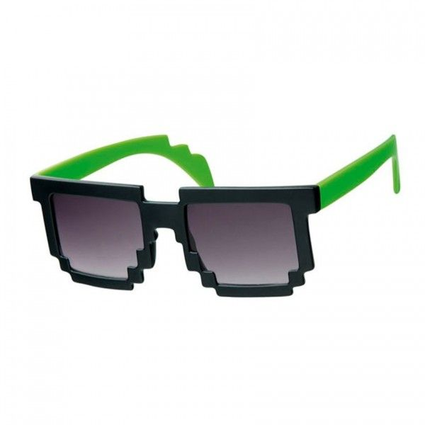 Minecraft Groof Black & Green Pixel Sunglasses