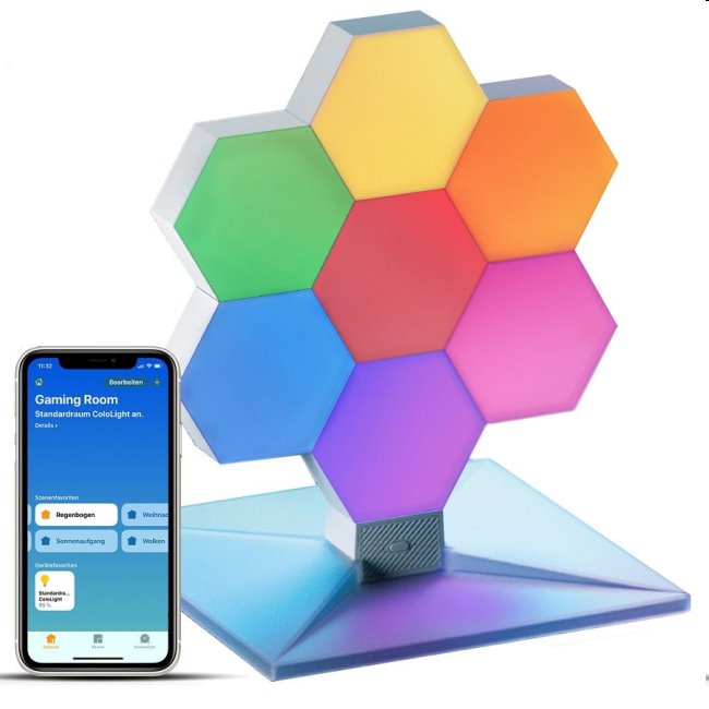 Modulárne smart osvetlenie Cololight Plus HomeKit, základňa so 7 blokmi 6LLS167S7