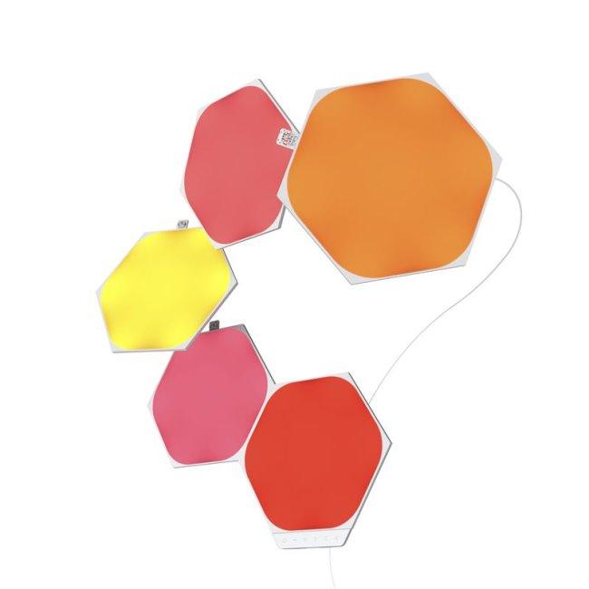 Modulárne smart osvetlenie Nanoleaf Shapes Hexagons Starter Kit Mini, 5 panelov
