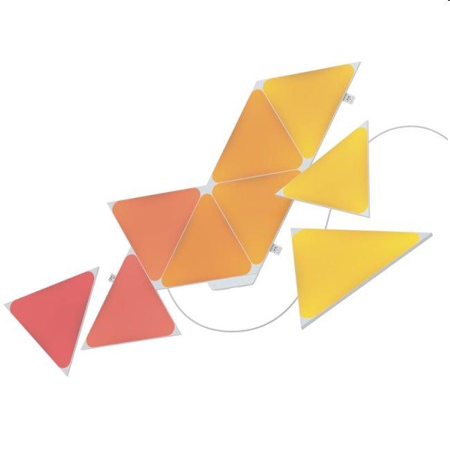 Modulárne smart osvetlenie Nanoleaf Shapes Triangels Starter Kit, 9 panelov