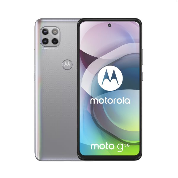 Motorola Moto G 5G, 6/128GB, Dual SIM, frosted silver - SK distribúcia