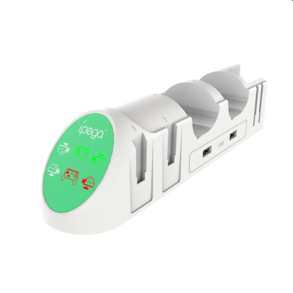 Nabíjacia stanica iPega 9187 pre Nintendo Switch PRO Controller a Joy-con, white 8596311137266