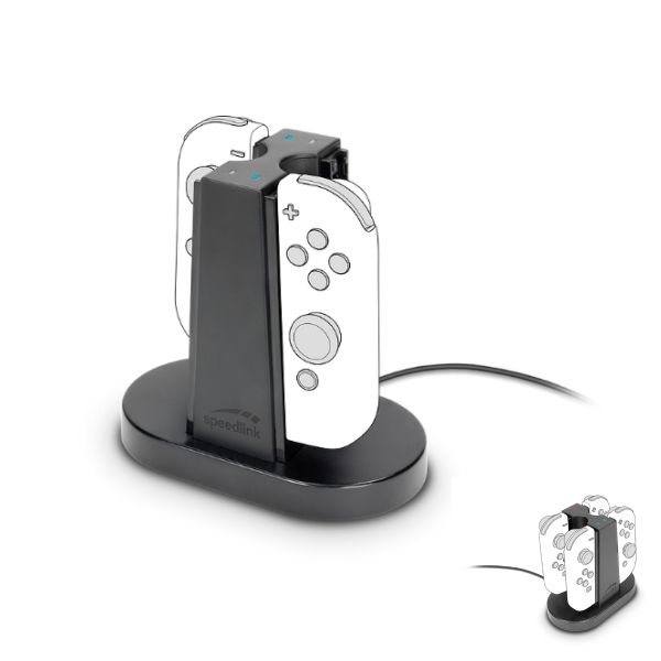Nabíjaèka Speedlink Quad Charger pre Nintendo Switch Joy-Con