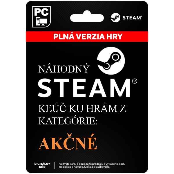 Náhodný Steam kľúč na akčné hry [Steam]