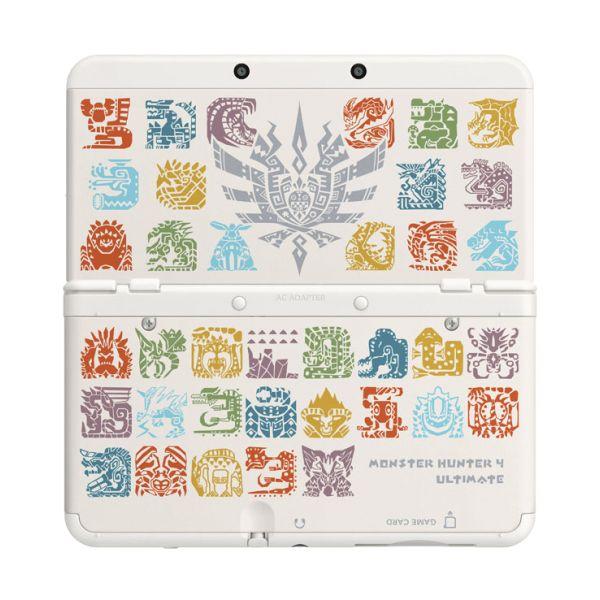 New Nintendo 3DS Cover Plates, Monster Hunter 4: Ultimate white