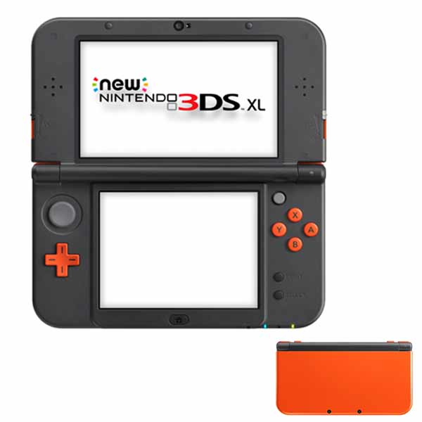 New Nintendo 3DS XL, orange + black