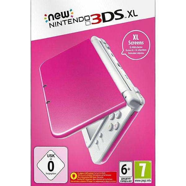 New Nintendo 3DS XL, pink/white