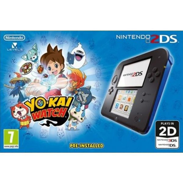 Nintendo 2DS, black/blue + Yo-Kai Watch
