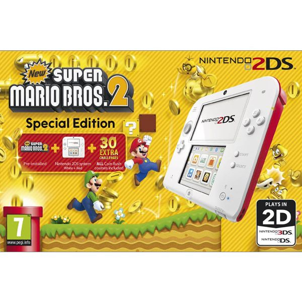 Nintendo 2DS, red/white (New Super Mario Bros. 2 Special Edition)
