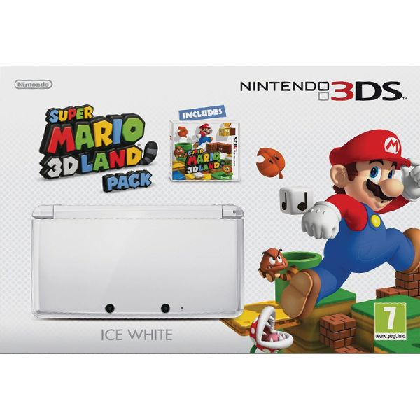 Nintendo 3DS Super Mario 3D Land Pack, ice white