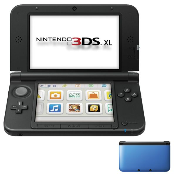 Nintendo 3DS XL, blue/black