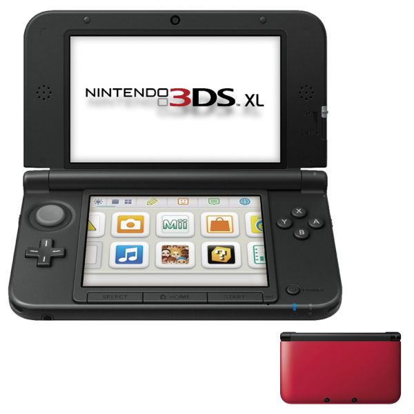 Nintendo 3DS XL, red/black