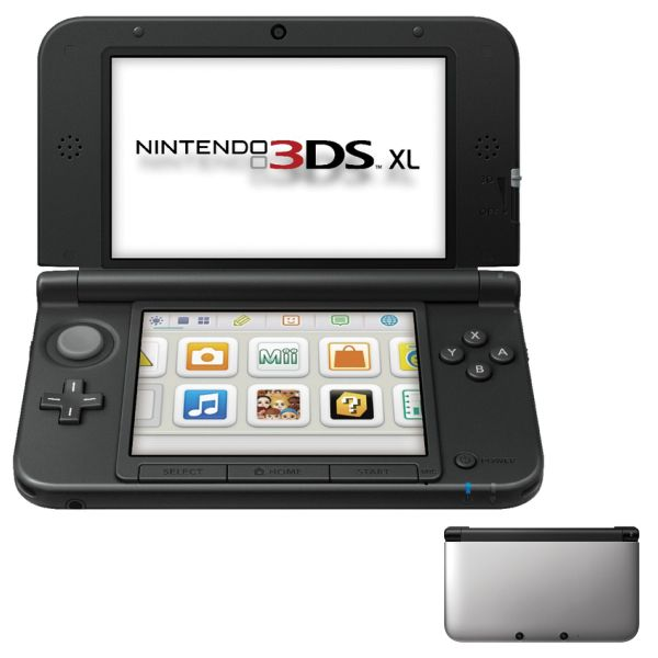 Nintendo 3DS XL, silver/black