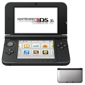 Nintendo 3DS XL, silver/black + The Legend of Zelda: A Link Between Worlds