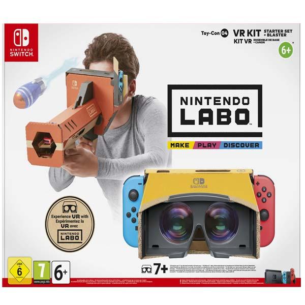 Nintendo Switch Labo VR Kit zaèiatoènícke balenie (VR okuliare + puška)