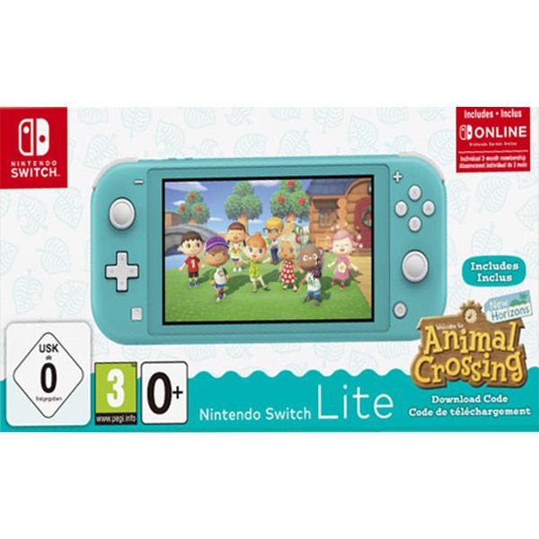 Nintendo Switch Lite, turquoise + Animal Crossing: New Horizons + trojmesačné predplatné služby Nintendo Switch Online