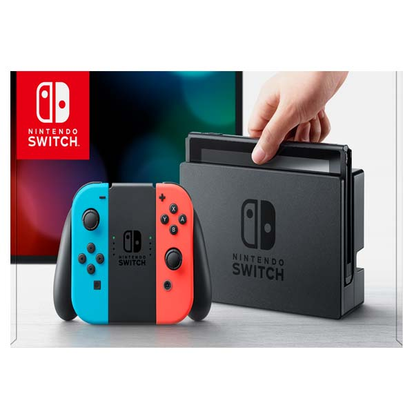 Nintendo Switch, neon - BAZÁR (použitý tovar, zmluvná záruka 12 mesiacov)