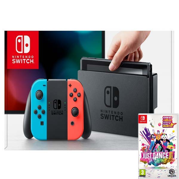 8a95eb3c6 Nintendo Switch, neon + Just Dance 2019
