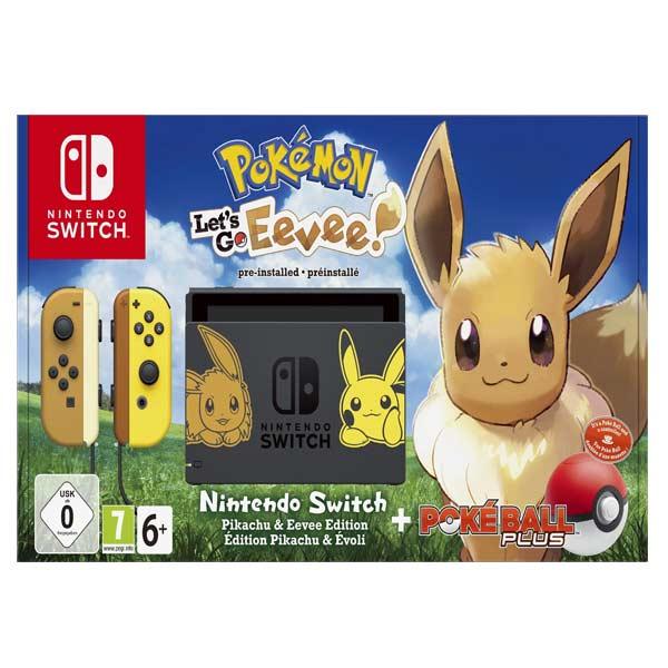 Nintendo Switch (Pokémon Let's Go Edition) + Pokémon: Let's Go, Eevee! + Nintendo Switch Pokéball Plus