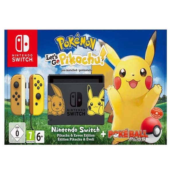 Nintendo Switch (Pokémon Let's Go Edition) + Pokémon: Let's Go, Pikachu! + Nintendo Switch Pokéball Plus