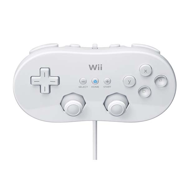 Nintendo Wii Classic Controller, white